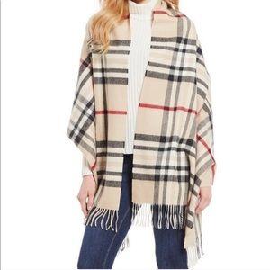 Fraas plaid cashmink oversize fringe blanket scarf